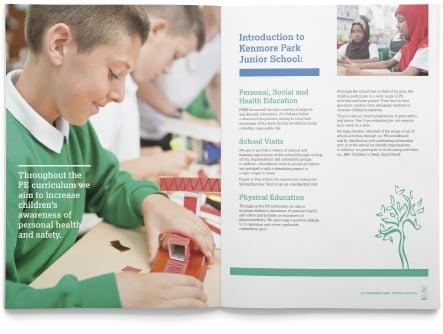 Kenmore Park junior schools custom designed prospectus