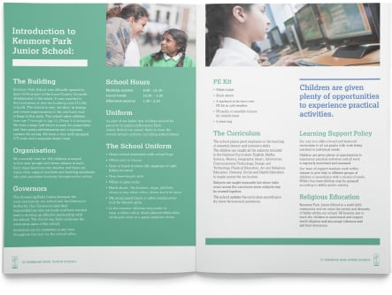 Kenmore Park school branding and prospectus