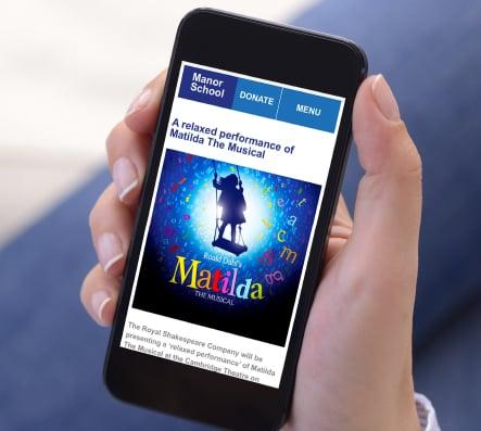 Manor School bespoke responsive website design