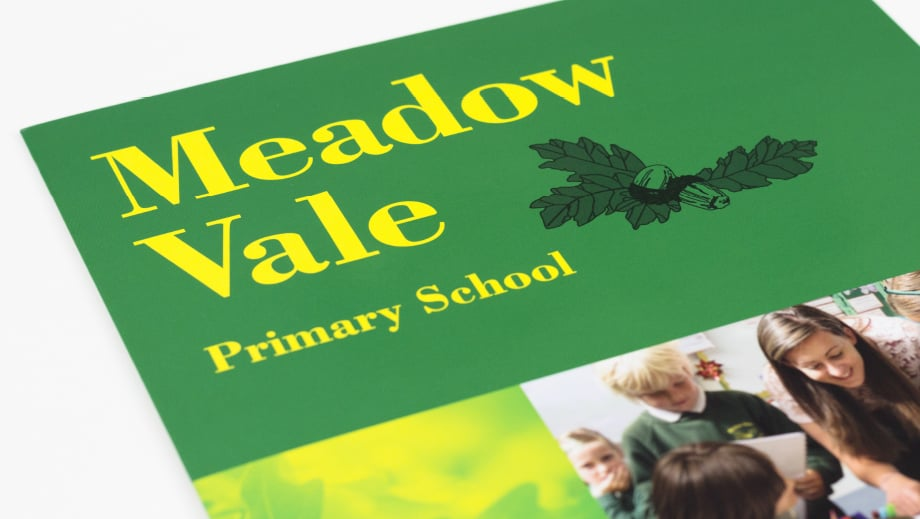 Meadow Vale Primary School bespoke prospectus design