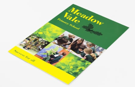 Meadow Vale bespoke designed school prospectus
