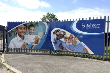 Belmore Primary Academy external welcome wall art