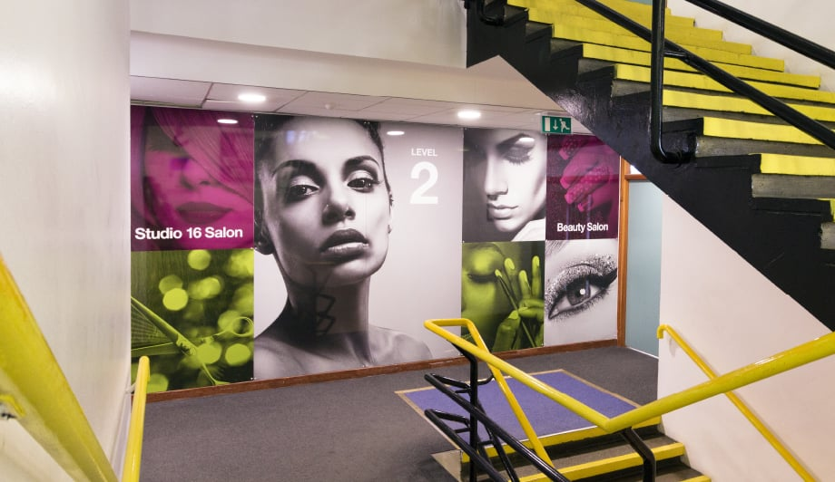 Shooters Hill Sixth Form college stairwell makeover wall art