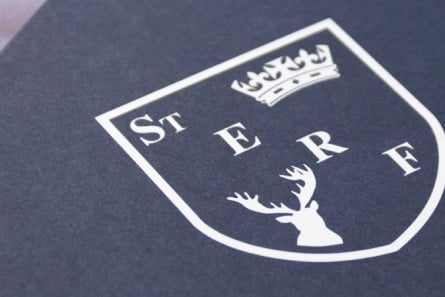 St. Edward's Royal Free branding prospectus graphic design