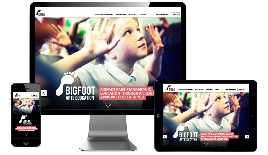 modern responsive and contemporary bespoke school website design