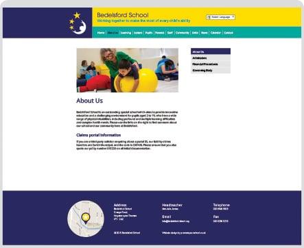 Bedelsford School interactive website design
