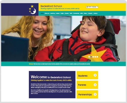 Bedelsford School Website design and photography