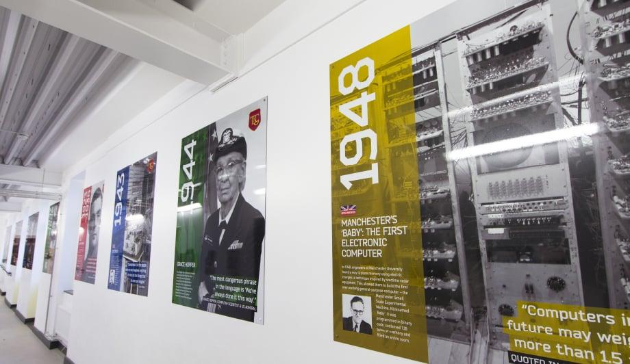 Townley Grammar School Computer Science timeline corridor wall art