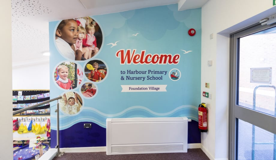 Primary and nursery School bespoke design welcome wall Art