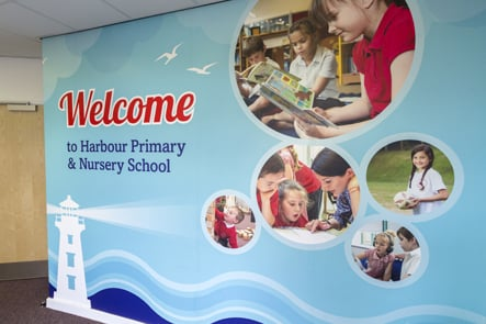 Harbour Primary & Nursery School values internal and external wall art