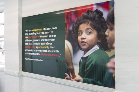 Longfield Primary School values corridor wall art