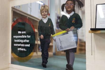 Longfield Primary School Photography promoting values corridor wall art
