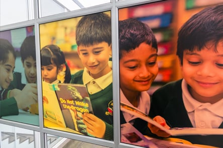 Longfield Primary School visual boards photography wall art