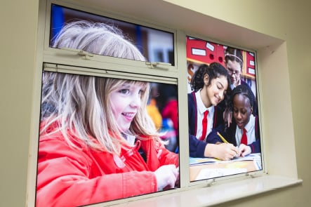 Primary School pupil photography for window vinyl Wall Art