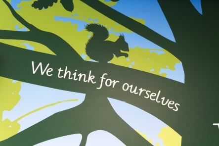 Primary School Values themed welcoming wall art
