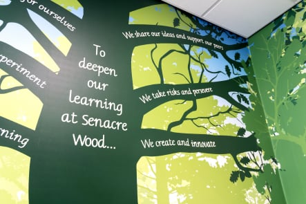 Senacre Wood Welcome Values Tree large format vinyl wall art