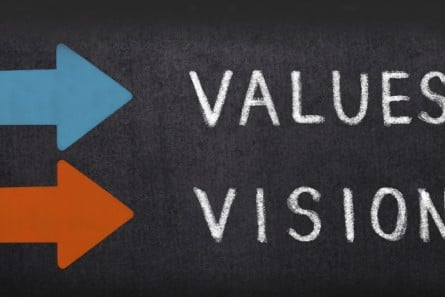 School's vision and values workshops core values