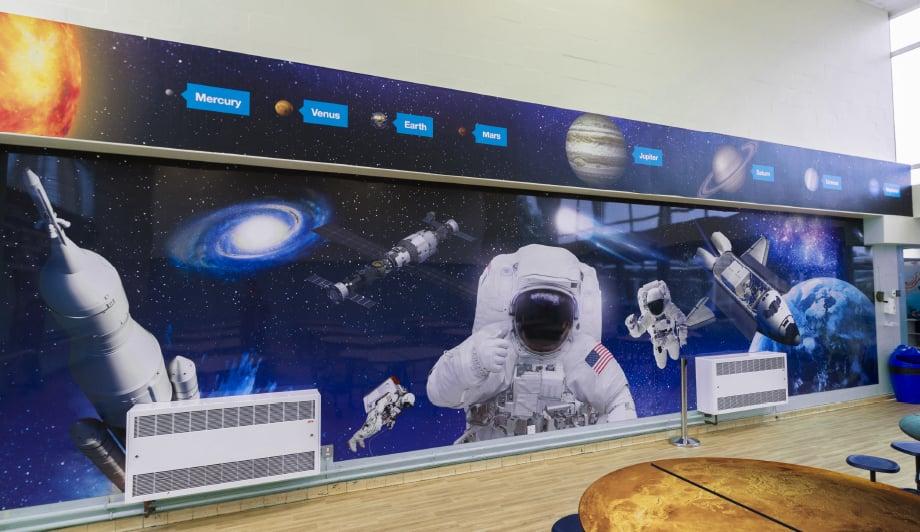 St Luke's Space cafe solar system themed school Wall Art