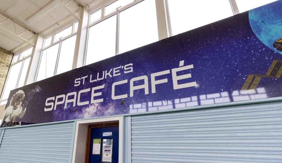 St Lukes Solar System space cafe Wall Art