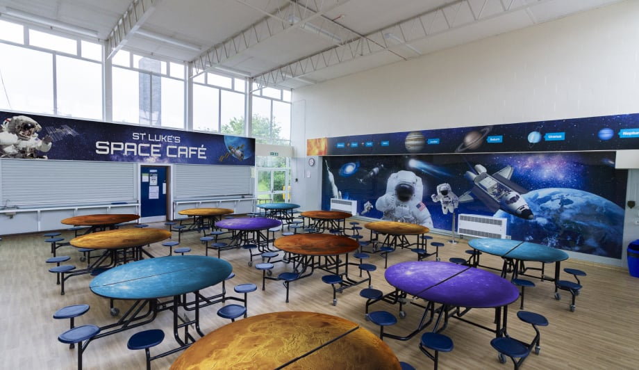 St Lukes Solar system space themed cafe School Wall Art