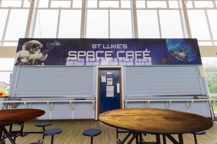 St Lukes Space Cafe bespoke Foundation School Wall Art