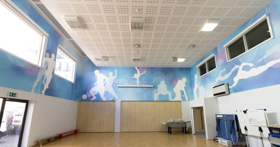 College Park School bespoke sports design with large format Wall Art