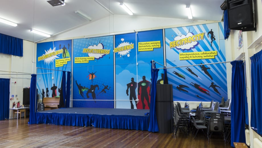 Harris Primary School superhero themed hall Wall Art