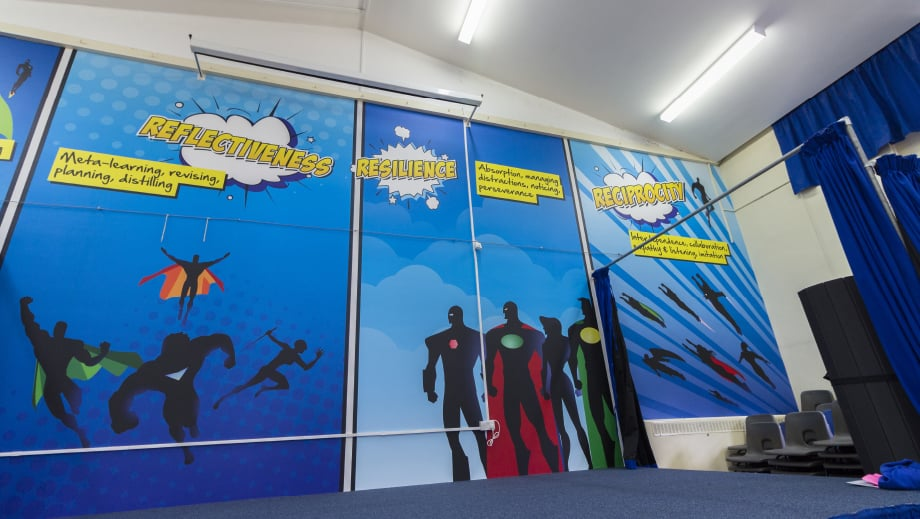 Bespoke large format wall wrap design school hall Wall Art