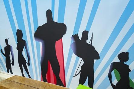 Harris Primary Academy Crystal Palace hall wall art