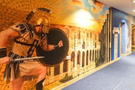 Lee Chapel history corridor wall art
