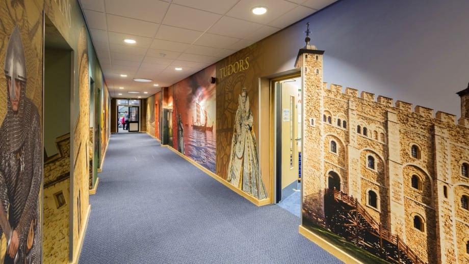 Lee Chapel school immersive historical timeline corridor wall art