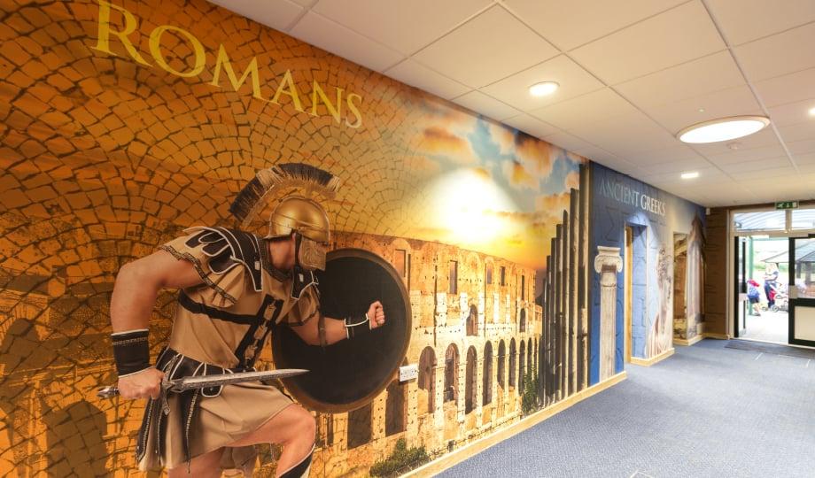 Lee Chapel History subject themed school corridor wall art