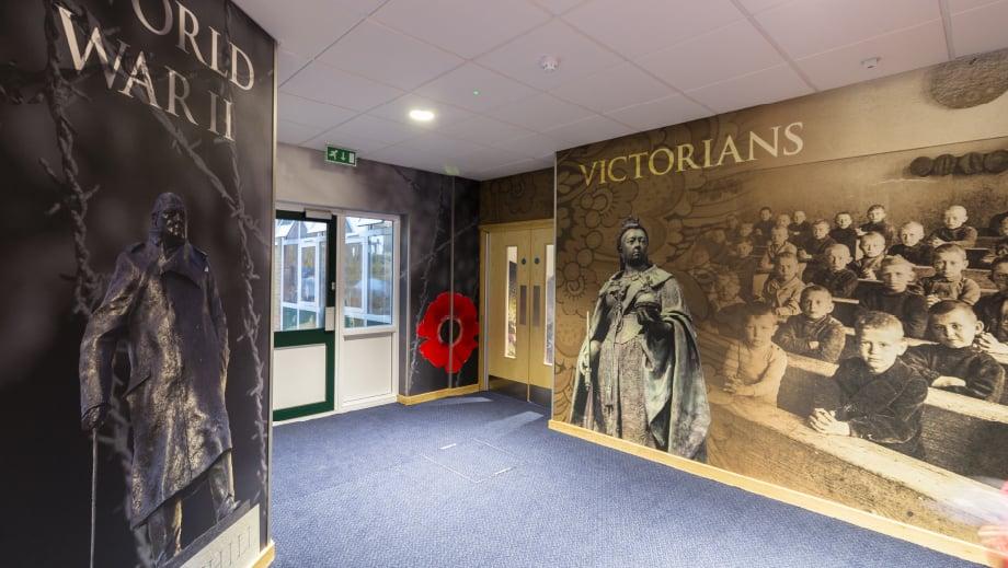 Lee chapels history corridor school wall art