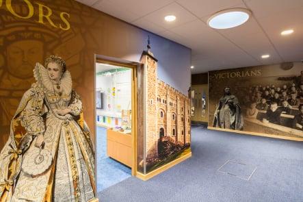 Lee Chapel immersive history timeline corridor wall art