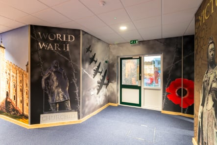Lee Chapel School large format history themed corridor wall art