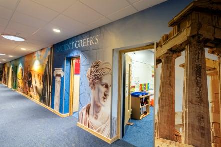 Lee Chapel School history subject themed bespoke wall art