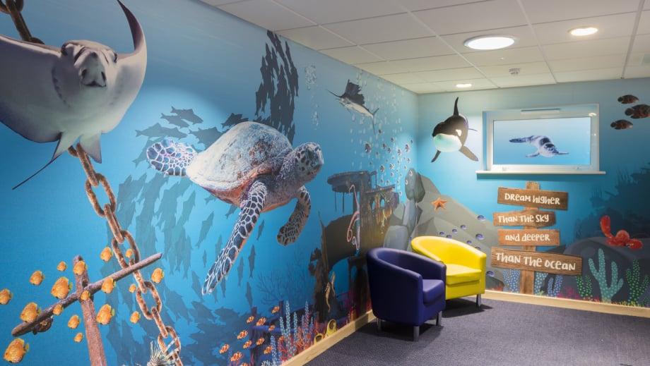 Lee Chapel Underwater theme large format corridor wall art