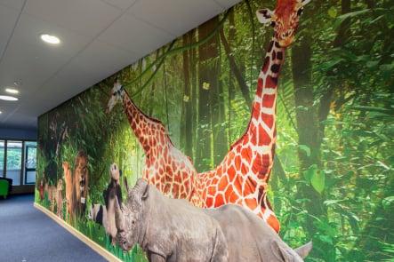 Lee Chapel Schools bespoke immersive themed corridor wall art