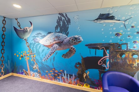 Lee Chapel underwater and jungle immersive themed wall art