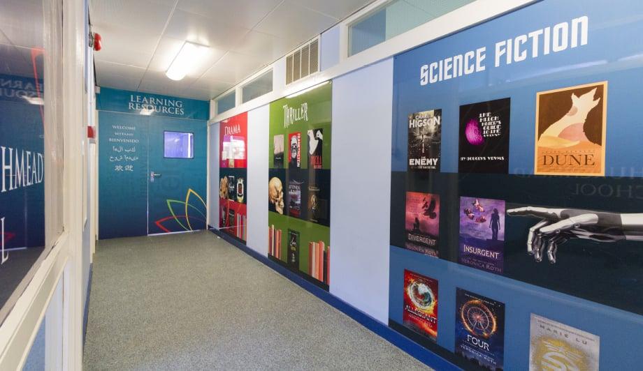 Churchmead School Literacy themed corridor wall art
