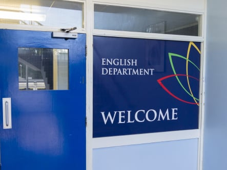 Churchmead School English department welcome signage wall art