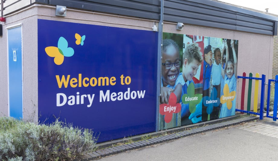 Dairy Meadow School Welcome wall art