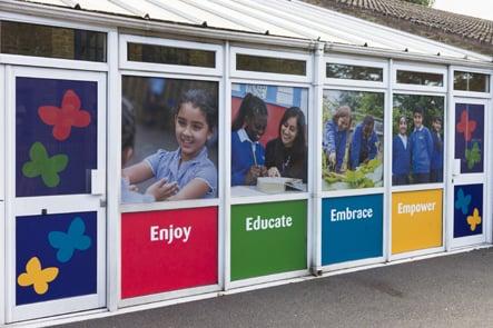 Dairy Meadow Primary and Nursery School external wall art