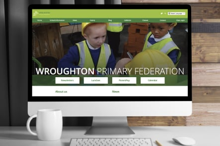 Wroughton Primary Federation website creation wall art