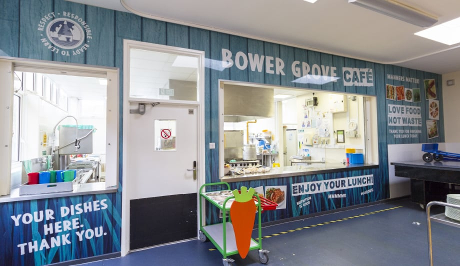 Bower Grove School - canteen servery