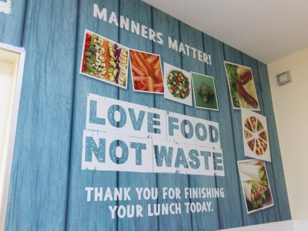 Bower Grove School food values canteen wall art