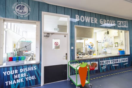 Bower Grove School food inspiration canteen servery wall art