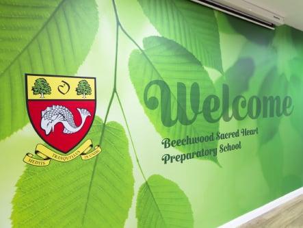 Beechwood Sacred Heart School welcoming entrance Wall Art