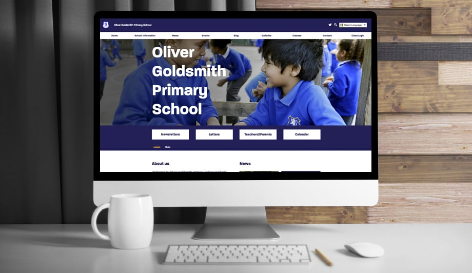 oliver Goldsmith Primary School responsive bespoke web design