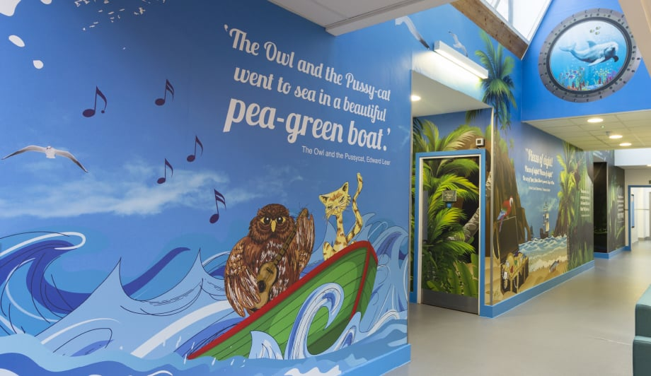 Berger Primary School literature themed library Wall Art